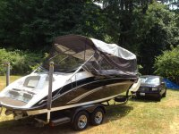 Plan to use shock cord around the perimeter to seal the screen to keep out bugs. Itu0027s not pretty or tailored to fit (yet) but it turns the boat into an ... & Whole boat Sun shade? | Jet Boaters Community Forum